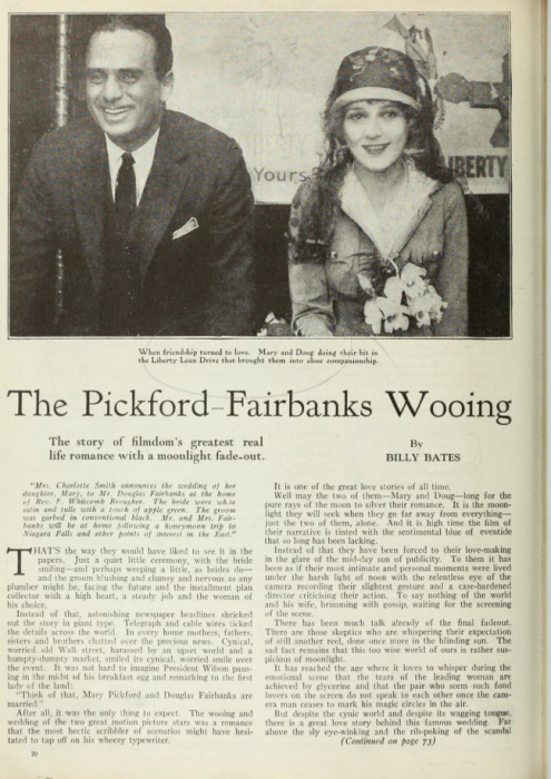 Mary Pickford and Douglas Fairbanks (Photoplay)