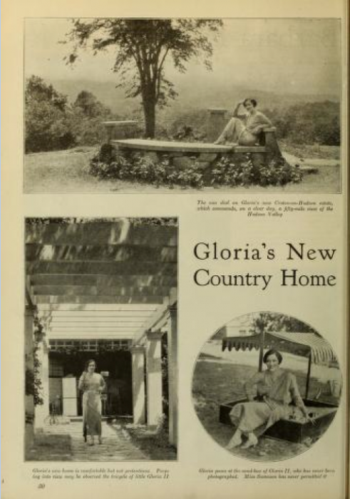 Gloria Swanson, New Country Home (Photoplay)