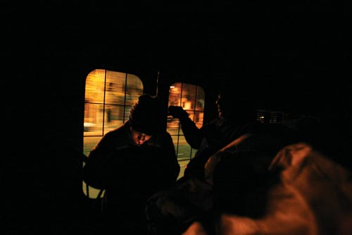 People in Dark Train