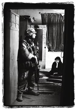Soldier in Iraqi Home