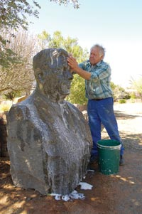 Man Washing Sculpture