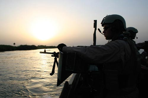 Soldier on Boat