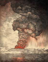 A Painting of a Volcanic Eruption