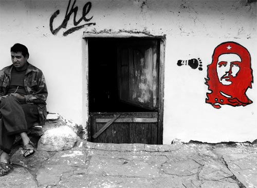 Che Painting on a Wall