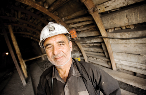 Abdel Waseeh, a foreman in the Karkara coalmine.