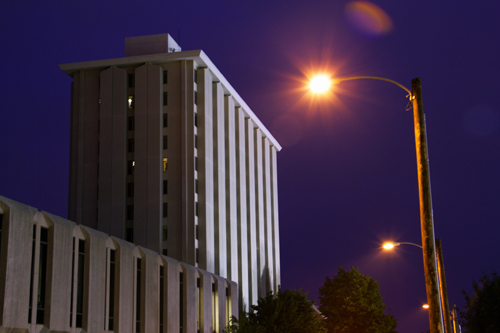 The University of Nebraska's Pound high-rise dormitory, recently slated for replacement.