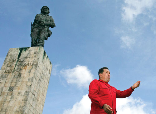 In 2007, Chávez delivered his weekly television address from the Memorial to Che Guevara in the Cuban village of Santa Clara.