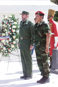 Chaves in military attire.