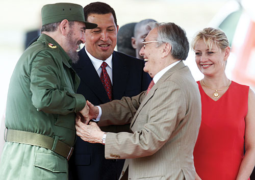 After his release from prison, Luis Miquilena takes Chávez into his home and launches him as a political candidate.