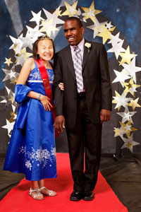 A couple from the Texas School for the Blind and Visually Impaired photographed on prom night by Sarah Wilson.