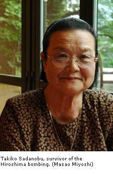 Takiko Sadanobu, survivor of the Hiroshima bombing