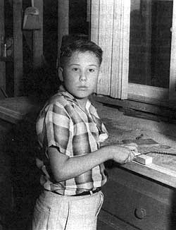 James Ellroy as a boy