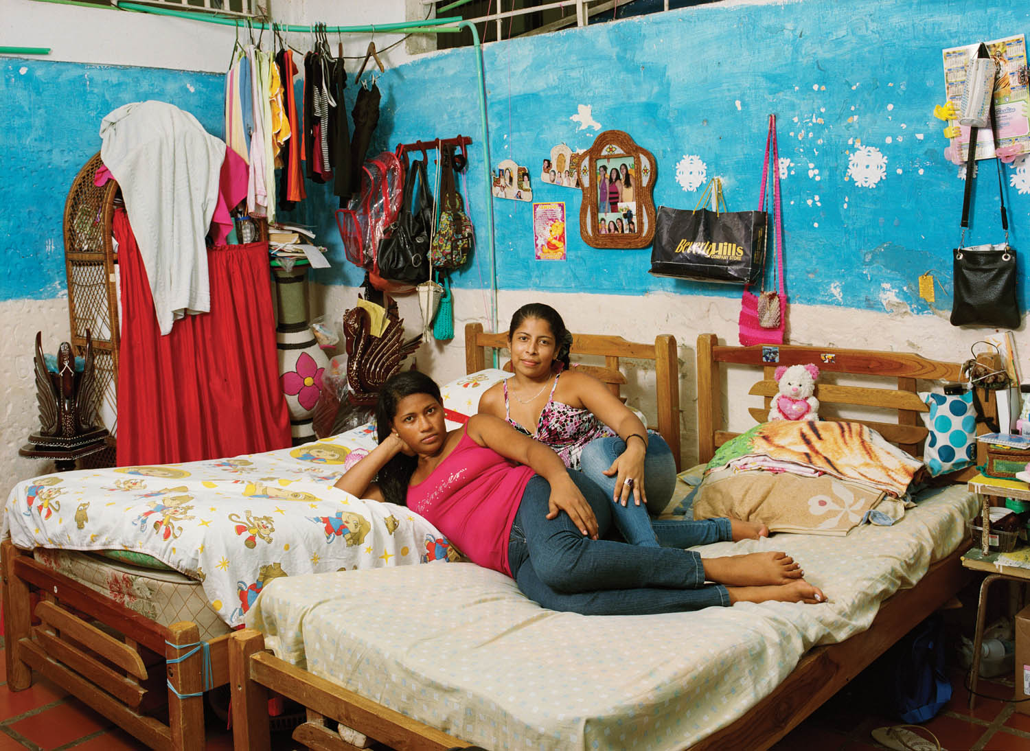 Group cell housing twelve inmates at San Diego Women's Prison. Cartagena, Colombia, 2011. Photograph by Jan Banning.