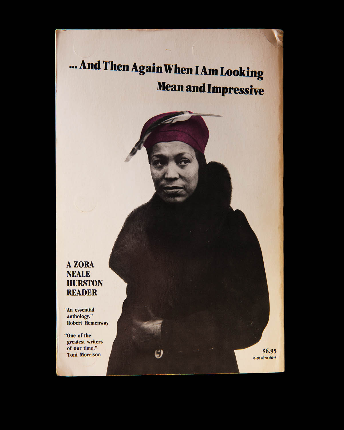 The back cover of I Love Myself When I Am Laughing…, a collection of Zora Neale Hurston's writing, edited and signed by The Color Purple author Alice Walker. Photographed by Jo Emmerson