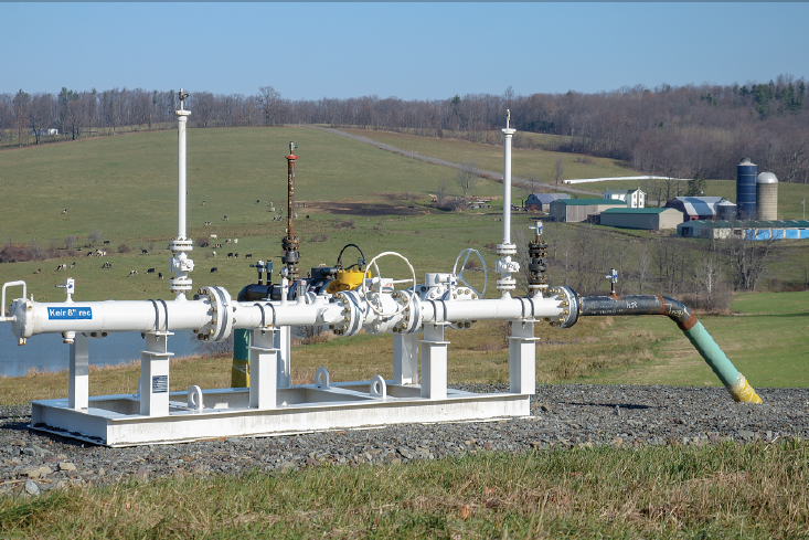 Gas infrastructure in Bradford County, Pennsylvania.