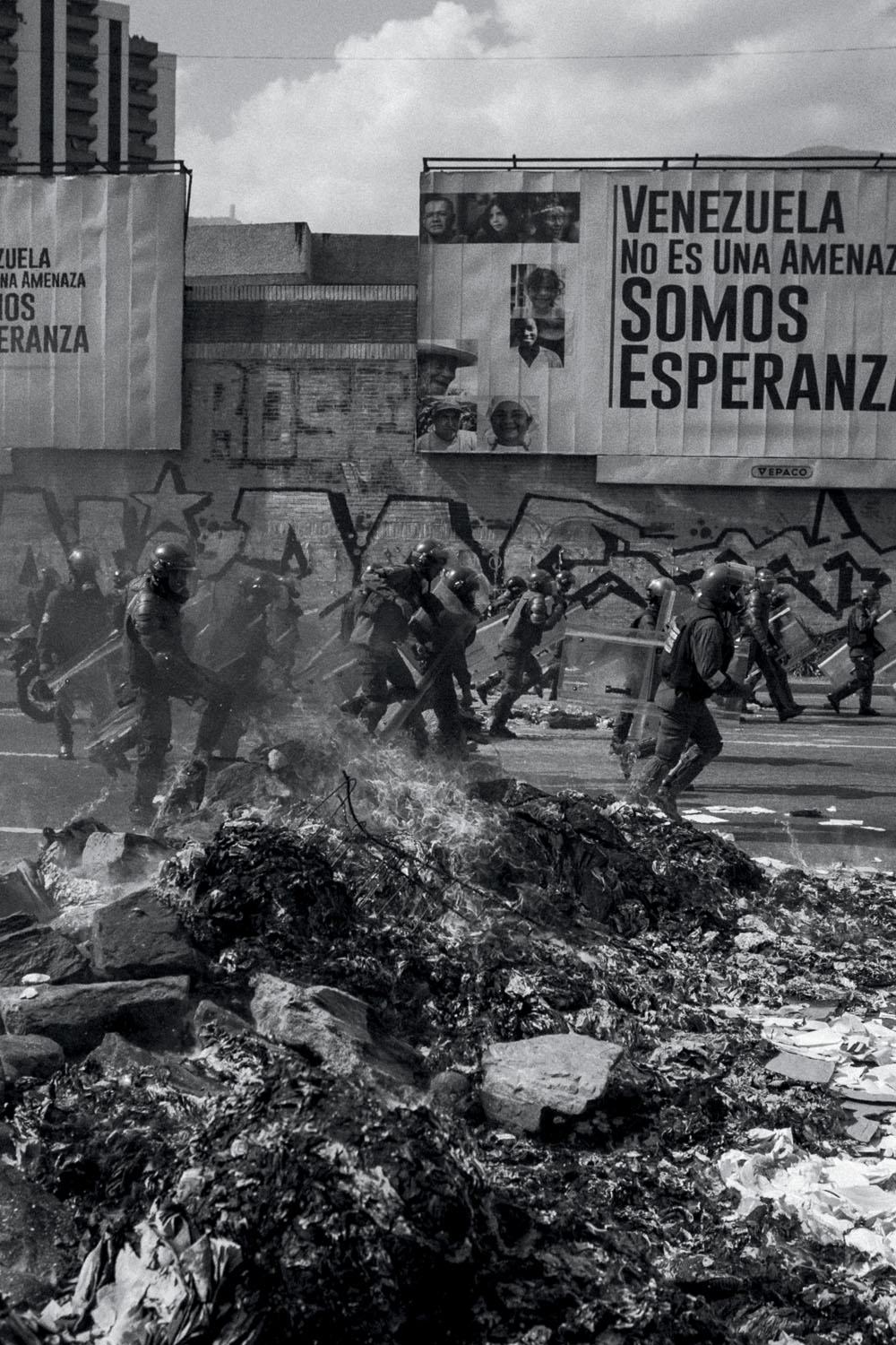 Photograph by Fabiola Ferrero. Opposition demonstrations in Caracas. April 2017.