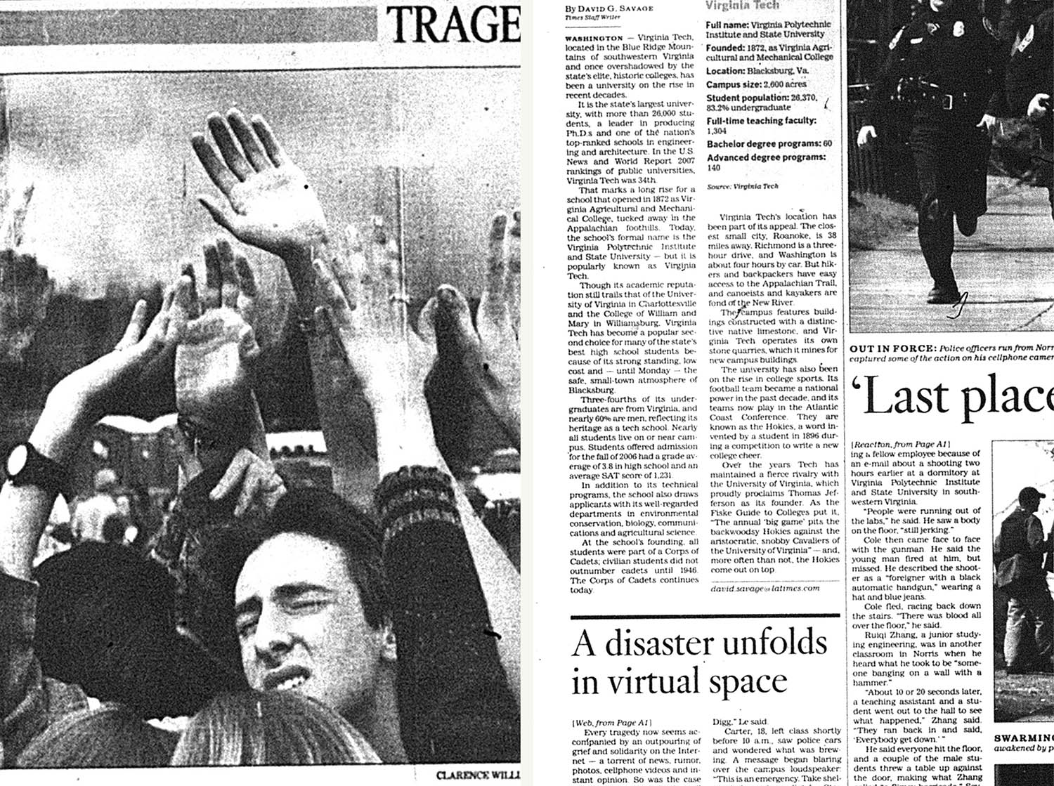 (L): The <i>Los Angeles Times</i>, April 22, 1999. (R): The <i>Los Angeles Times</i>, April 17, 2007.