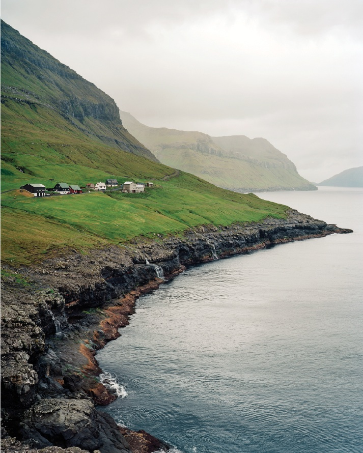 The village of Skælingur, population thirteen.