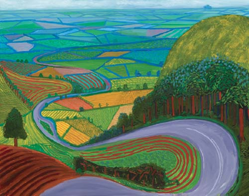 "Garrowby Hill (1998), oil on canvas, 60 x 76"". (Richard Schmidt)"