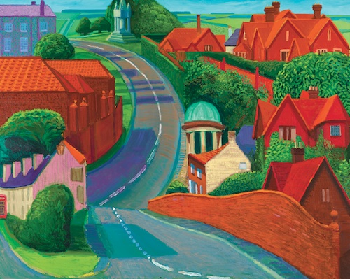"The Road to York Through Sledmere (1997), oil on canvas, 48 x 60"". Collection Museum of Fine Arts, Boston. (Prudence Cuming Associates)"
