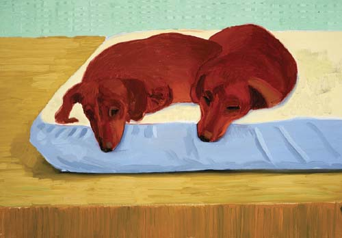 "Dog Painting 34 (1995), oil on canvas, 18 x 25.5"". (Steve Oliver)"