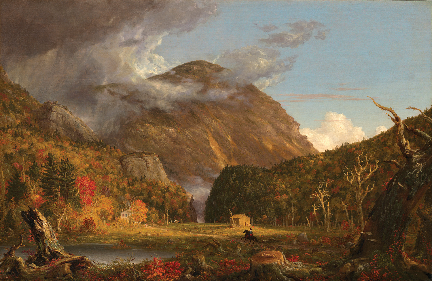 "Thomas Cole, <i>A View of the Mountain Pass Called the Notch of the White Mountains</i>, 1839. Oil on canvas, 40 -3/16"" x 61 -5/16"". (Courtesy of the National Gallery of Art / Andrew W. Mellon Fund)"