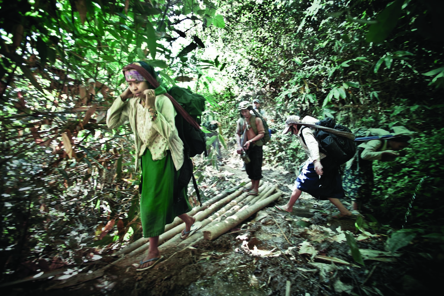 Most villages within Karen state are only accessible through a network of jungle paths. Supplies are carried in by  porters, many of them  young women who carry up to fifty pounds up and down steep mountain routes. Medical supplies, as well as basic necessities, are smuggled in from Thailand then trekked to remote villages.