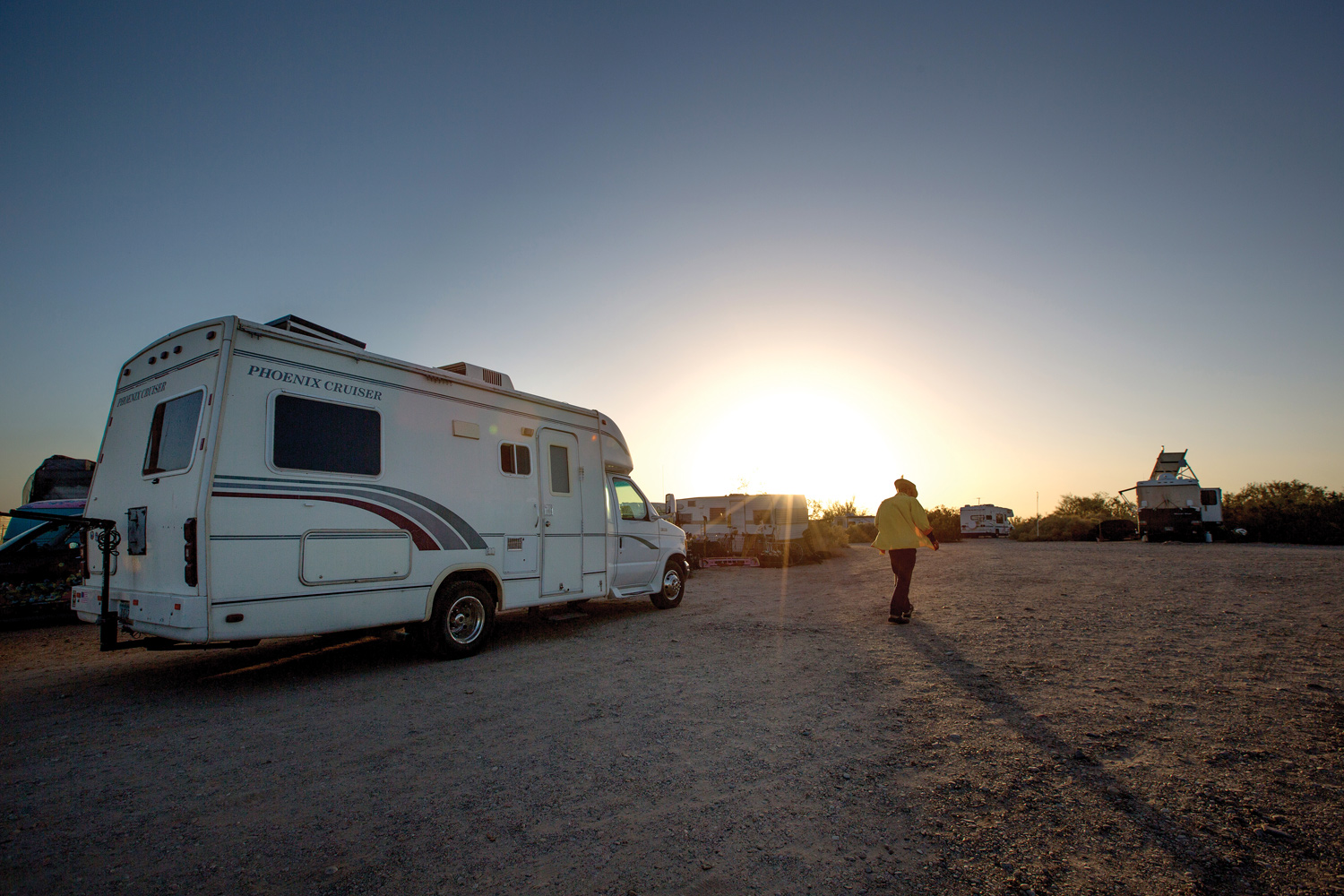 Happy hour at Slab City, southeastern California.