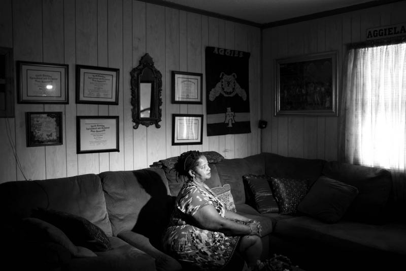 Laverne Keys in her Statesville, NC, home. Zachary was struck from a jury for what she perceives as racial bias.