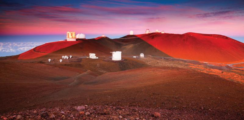 The complex of telescopes near the summit of Mauna Kea, 2014. (Grant Kaye)