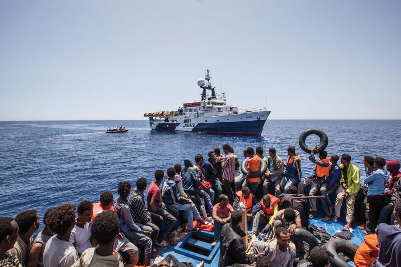 The MOAS vessel Phoenix, Mediterranean Sea, June 2015.