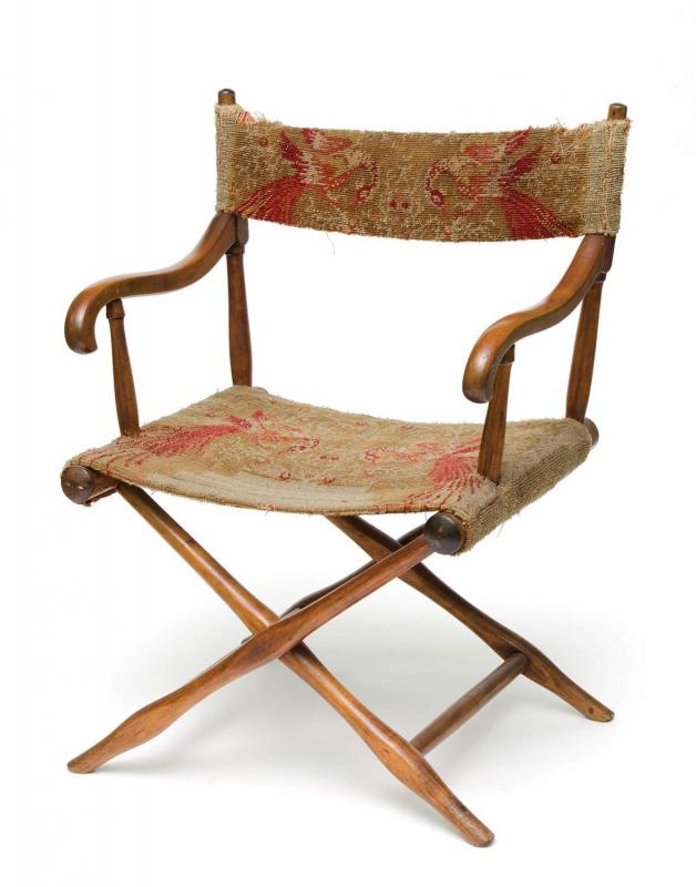 Cole's painting chair from his studio in Catskill, New York. (Courtesy of the Thomas Cole National Historic Site)