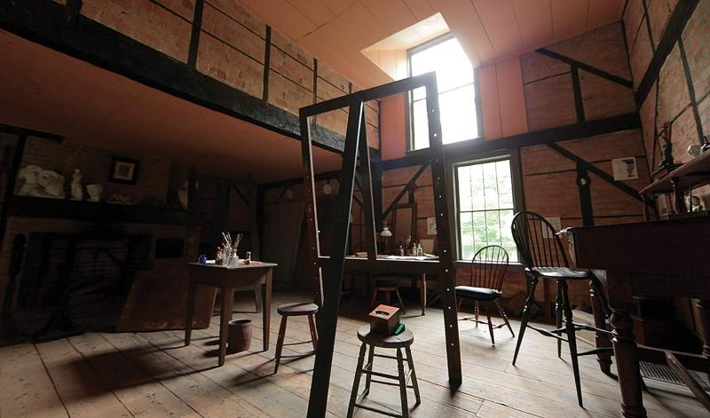Cole's studio at his home in Catskill, New York. (Courtesy of the Thomas Cole National Historic Site)