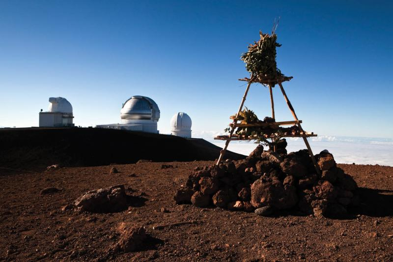A temple on Mauna Kea. (Getty/Ullstein Bild)