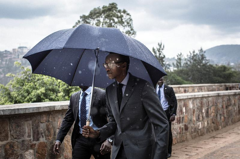 Rwandan President Paul Kagame before delivering his speech at the twenty-first commemoration of the Rwandan genocide, at Kigali Genocide Memorial. In the effort to rebuild the country, the government has focused on Rwanda's youth as a way of transitioning to a knowledge-based economy.