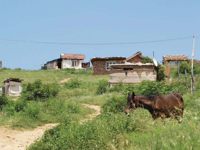 A squatter community in the town of Stara Zagora.