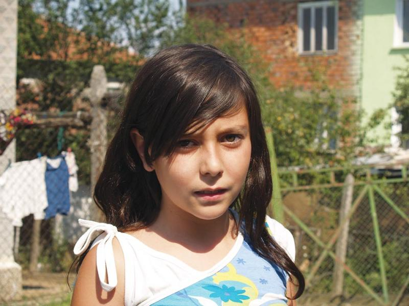 A girl in Kosharnik.