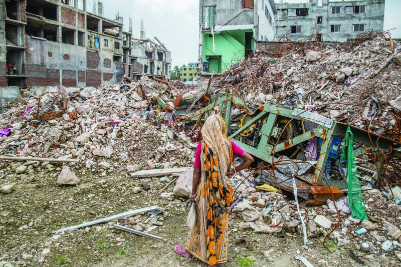 The remains of Rana Plaza, August 2013.