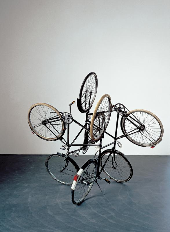 "<i>Four Bicycles (There Is Always One Direction) </i>, 1994. Bicycles, 78"" x 88"" x 88""."