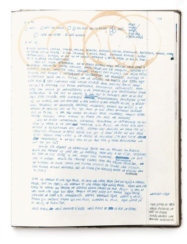 Orozco's notebook, 1992.