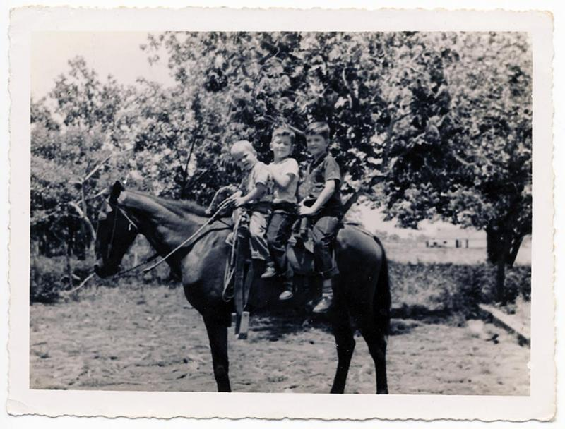 Tom, René, and José on horseback, Alta Habana. (Image courtesy of the author)