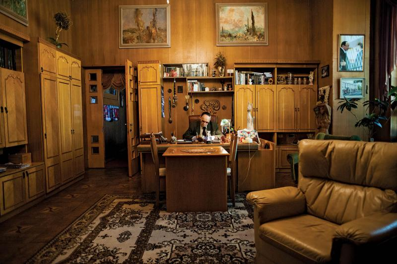 Anatoly Novikov, director of the Russian Drama  Theater, at his office.