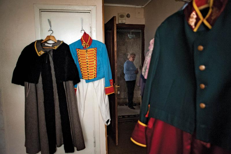 Costumes for The Government Inspector, by Nikolai Gogol, at the end of the show's run in March 2014.