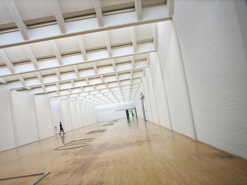 One of the long galleries inside the Dia:Beacon (Melissa Kirsch).