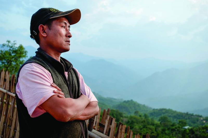 David Suirungbo was born in Somra village. He now runs a shop with his wife, but he worked for many years as an itinerant peddler in the Naga Hills, evading rogue Burmese soldiers, ethnic insurgents, and tigers.