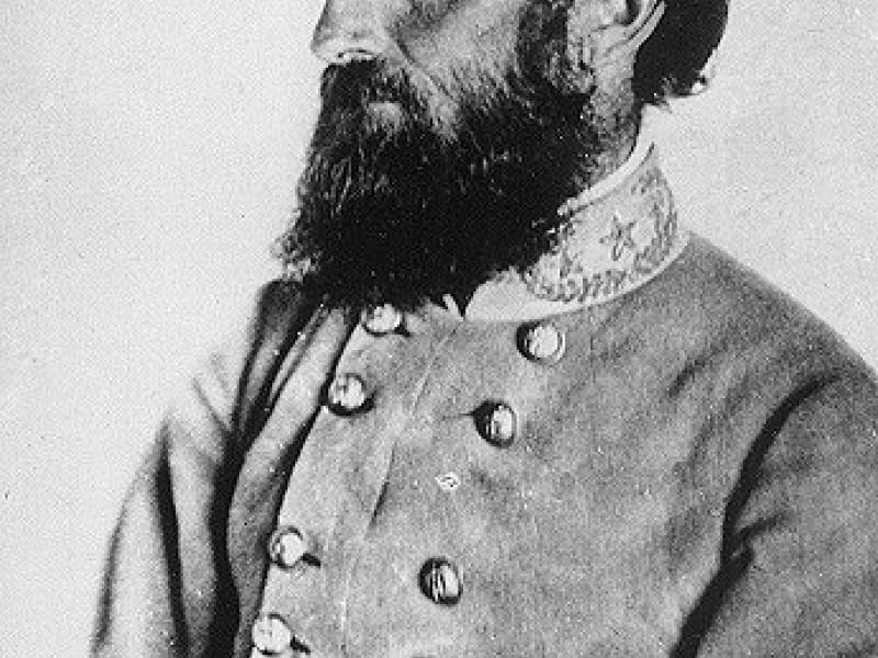"General Jackson's ""Chancellorsville"" Portrait, taken at a Spotsylvania County farm on April 26, 1863, seven days before his mortal wounding at the Battle of Chancellorsville"