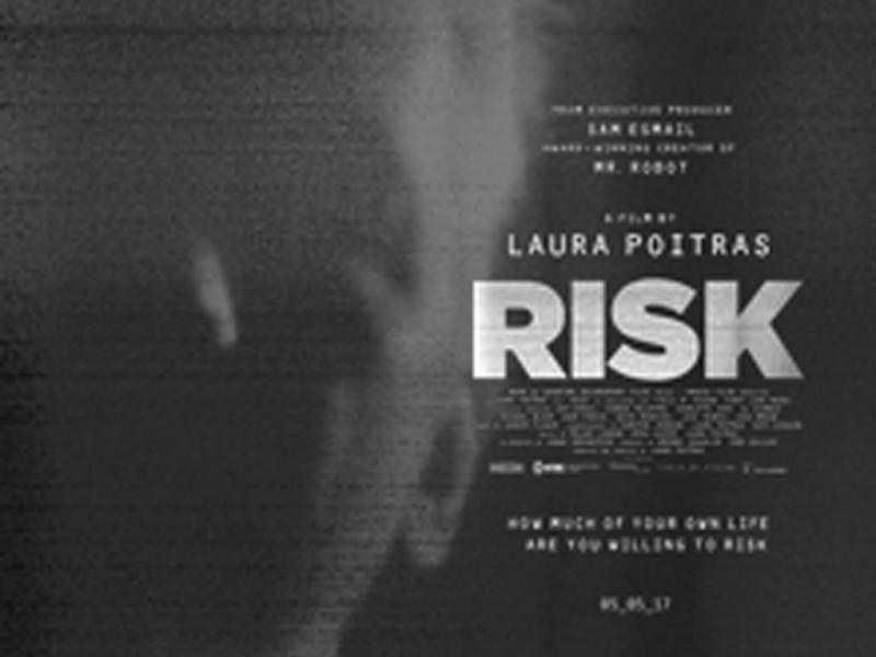 <i>Risk</i>Directed by Laura Poitras Neon, 2017 86 minutes.