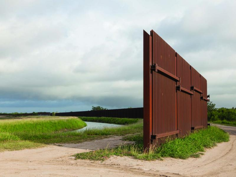 The border fence, Rio Grande Valley, Texas.