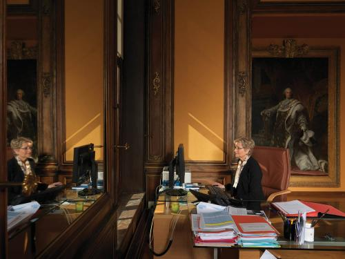 First President of the Court of Appeal in Douai, Dominique Lottin. France, 2012. Photograph by Jan Banning.